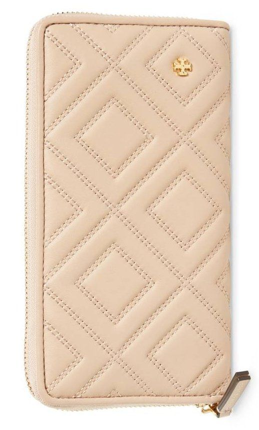 A signature T medallion adds instant polish to a diamond-quilted wallet crafted from supple lambskin leather and designed with a zip divider pocket and plenty of card slots for storing your essentials