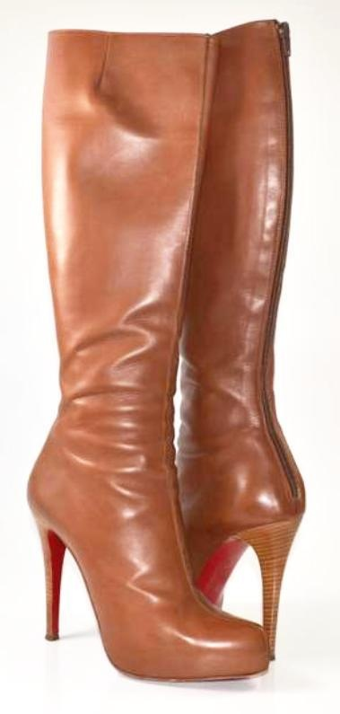 timeless design 900db 7c01d Artesur » christian louboutin leather boots Brown leather heels