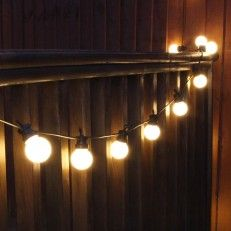 8m Warm White Festoon Party Lights Connectable 20 Leds Black Cable
