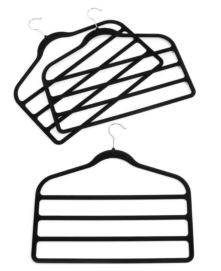 Neatfreak Pant Hangers, 3 Pack Felt 4 Tiered Clothes Hangers - Storage & Organization - College Lifestyle - Macy's