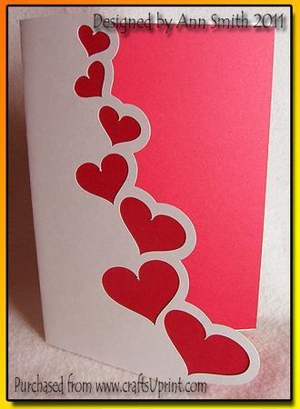 'Hearts' card - SVG
