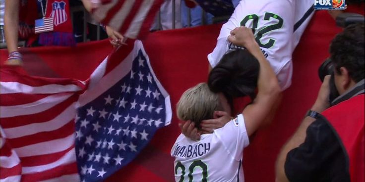 The first thing Abby Wambach did after winning the World Cup was rush to the stands to kiss her wife  Read more: http://www.businessinsider.com/abby-wambach-kisses-her-wife-after-world-cup-win-2015-7#ixzz3f8FcVrG6