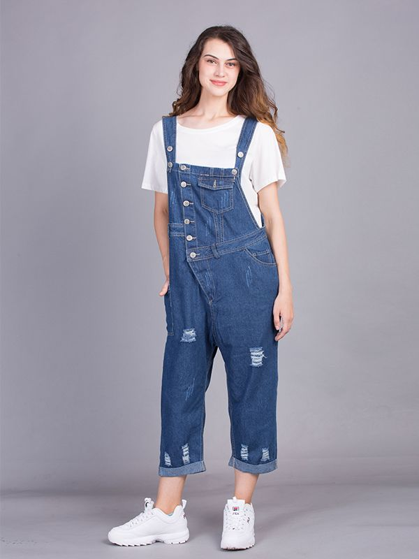 644bca79092be Amanda Overall Dungarees in 2019 | Trendy Overall Dungarees | Dungarees,  Denim dungaree dress, Overalls