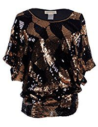 New Anna-Kaci Womens Loose Fit Sequin Dolman Sleeve Evening Blouse Top online. Find the perfect Soteer Tops-Tees from top store. Sku UINA59924HDHP18323