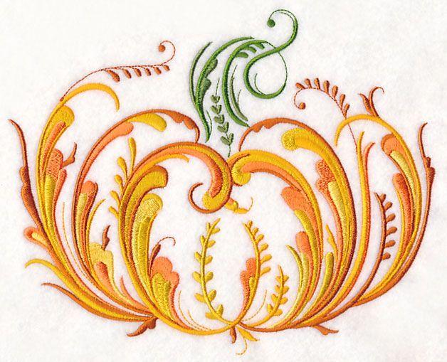 Rosemaling Pumpkin design (M9165) from www.Emblibrary.com