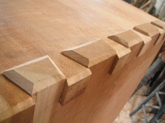 I absolutely LOVE this look... Custom Made Dovetailed... NEED to make my bedframe like this!