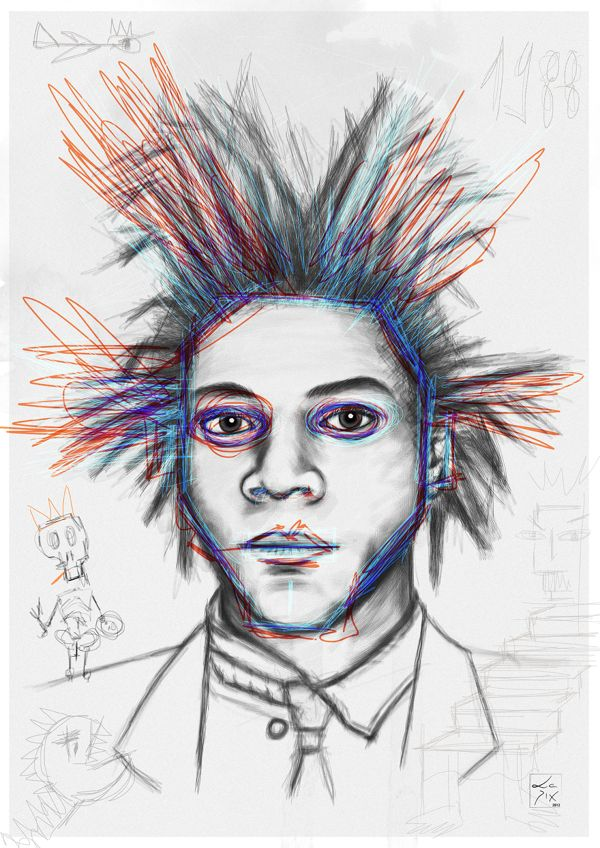 Basquiat // Prints Available - http://society6.com/lepix/Basquiat-2#1=45