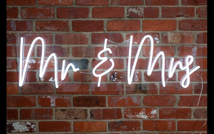 Neon Collective Co Mr & Mrs Neon Sign Hire for sale in
