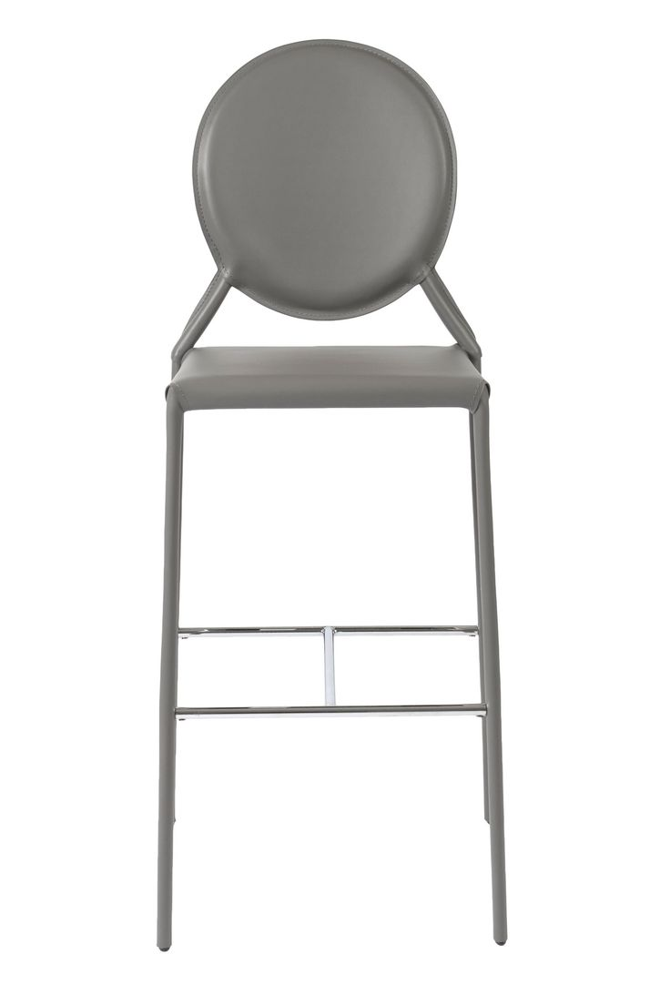 Isabella-B Bar Chair Gray Leather (set of