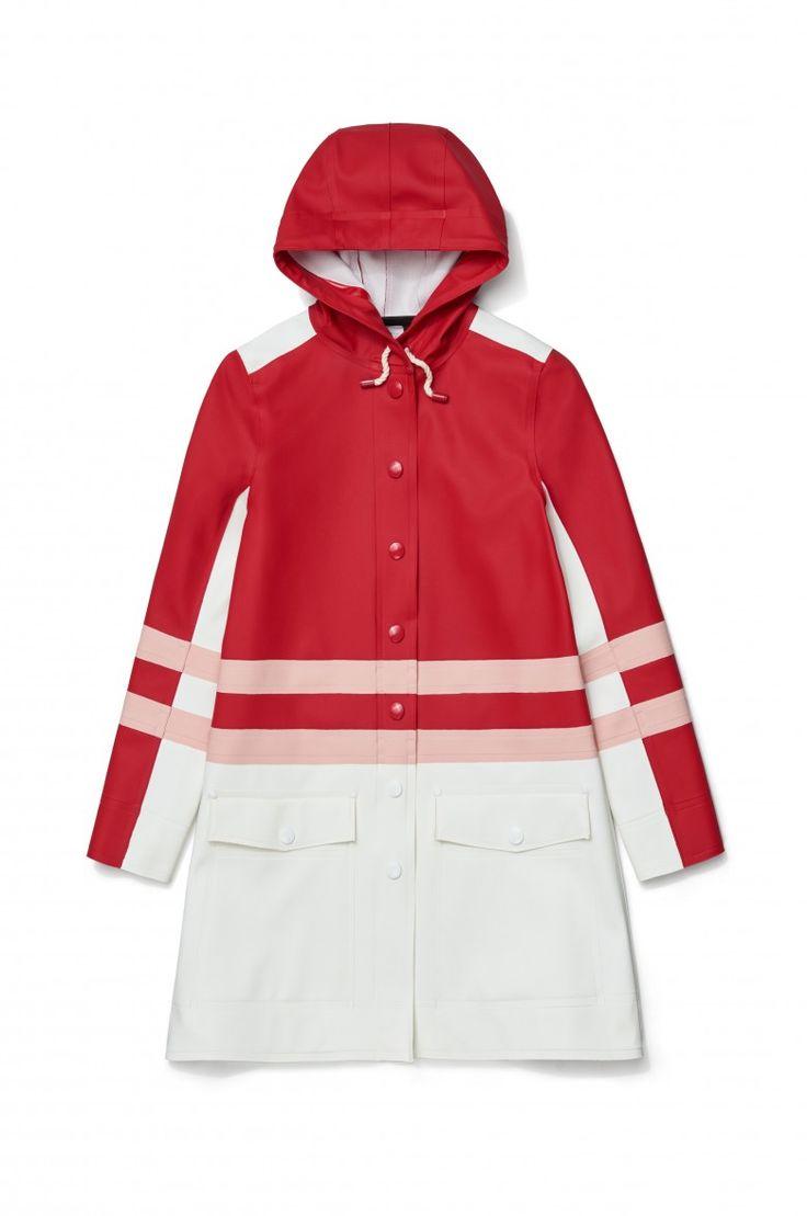 Stutterheim x Marni – Women's Stripe Coat Red Multi