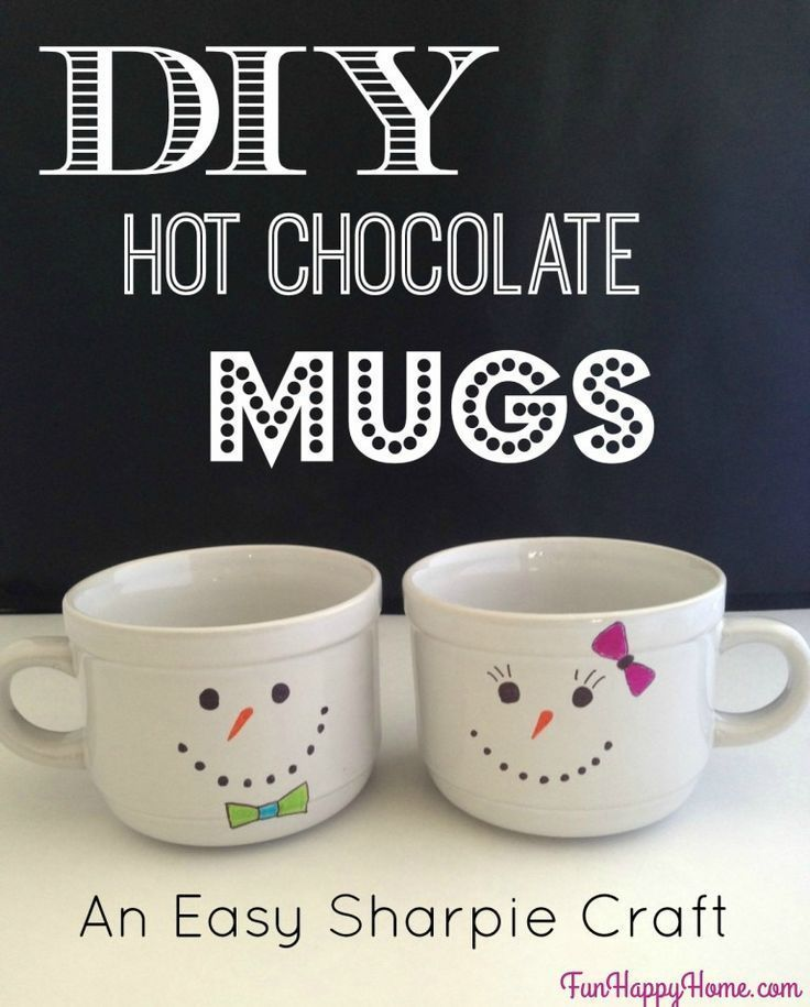 These DIY Snowman Mugs are so easy to make  and they make an adorable gift! If you think Sharpie Mugs are awesome, you'll want to make this one!