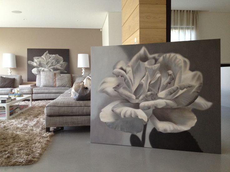 living room of artist Leanne Thomas