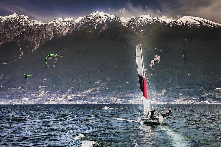 TOPCAT - AMAZING - VIEW  #topcatsailing #catamaran #gopro #nextgeneration #sail #sailing #sailingextreme #ocean #sea #regatta #watersport #fun #speed #katamaran #segeln #photooftheday #awesome #instasail #cruising #boat #picoftheday #view #season #italy #handmade #production #summer #sailboat #emotion #boat #lakegarda by topcatsailing