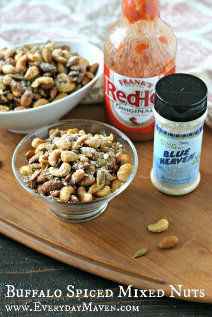 Spicy Buffalo Mixed Nuts for World Diabetes Day and A Le Creuset Giveaway!