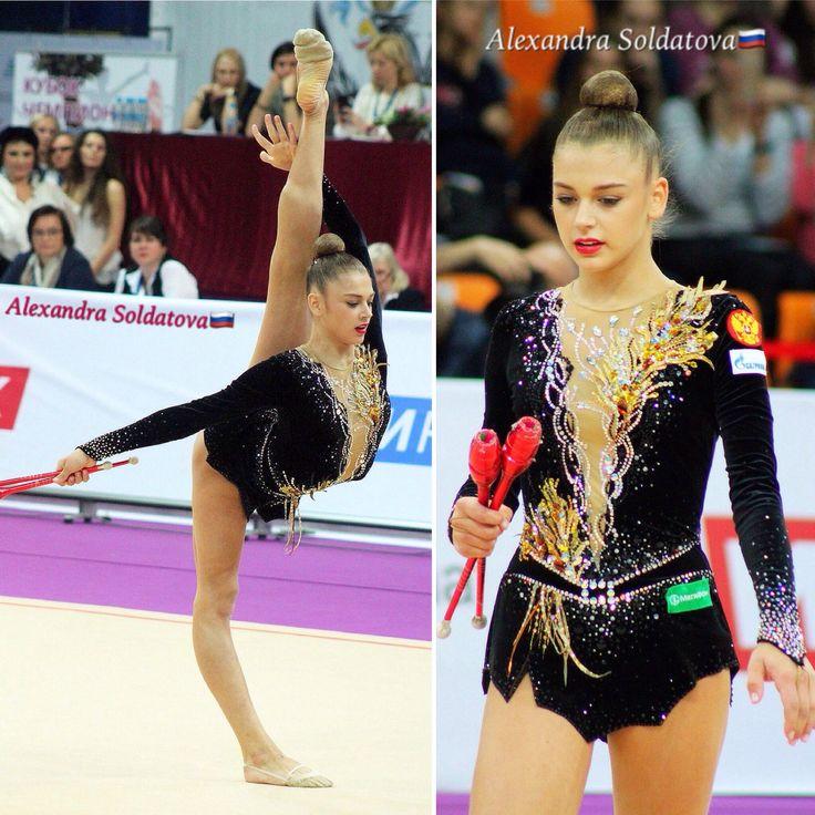 Alexandra SOLDATOVA (Russia) ~ Collage Clubs @ GP Moscow 2017 ❤️❤️ Marianne Piquerel.