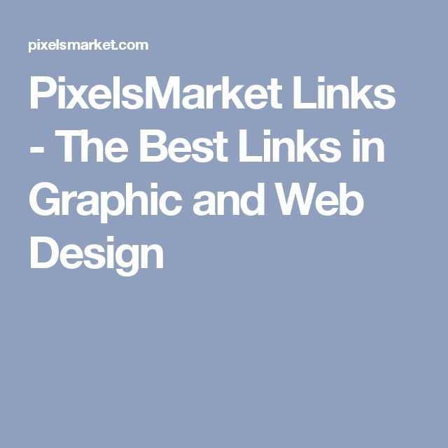 PixelsMarket Links - The Best Links in Graphic and Web Design