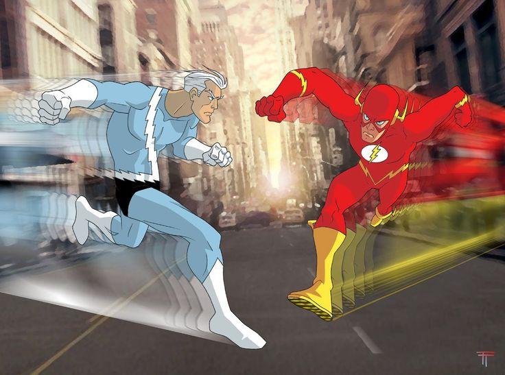 Quicksilver comic drawings | quicksilver marvel comics versus the flash dc comics they fight