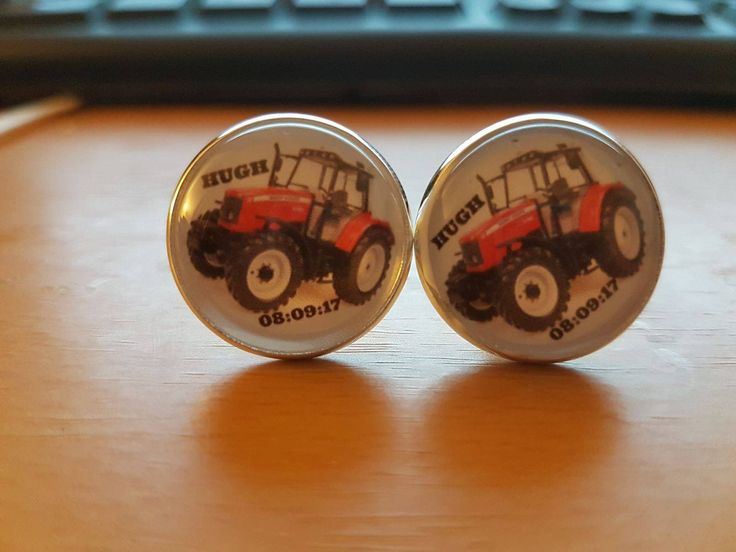 made to order for a wedding, tractor cufflinks