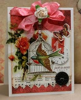 Cards Ideas, Birds Cards, Handmade Cards, Shabby Chic Cards, Cards Birds, Chic Birds, Heart Papercraft, Cards Makingscrapbook, Vintage Cards