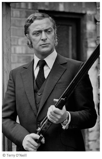 Michael Caine, Newcastle, 1970. This image was shot during filming of the cult film, 'Get Carter.' ©Terry O'Neill