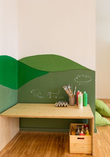 kids art area - this is what I want to do in the Living Room corner for K.