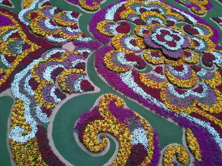 Santafe Mall Feria de Las Flores, Medellin, Colombia , 7/30/2013. This incredible floral display covers the entire first floor of the mall!