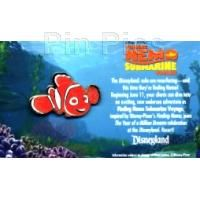 PinPics Pin #54951 DLR Finding Nemo Submarine Voyage Nemo Travel Agent Pin