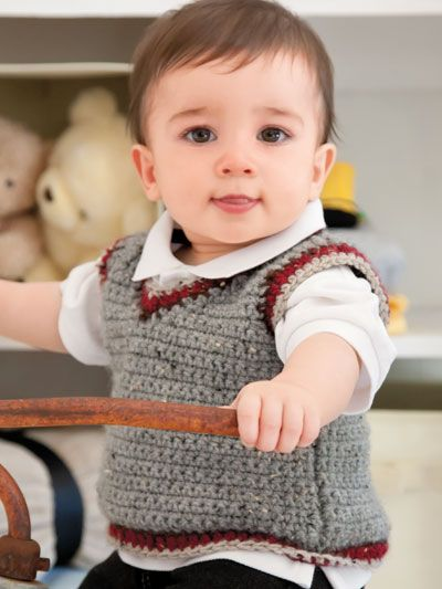 Free Crochet Vest Pattern For Child : 72 Best images about Haken on Pinterest Vests, Free ...