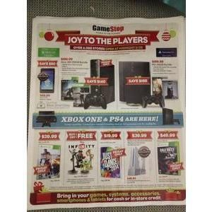 GAMESTOP BLACK FRIDAY 2013 AD This 12-page Gamestop Black Friday 2013 ad features top video game titles and hardware, as well as a small sampling of other electronics such as mobile phones and tablets. With many top video games on sale for 50% off, this ad has some good buys for the gamer on your list.