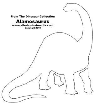 Dinosaur Alamosaurus Stencil from www.all-about-stencils.com