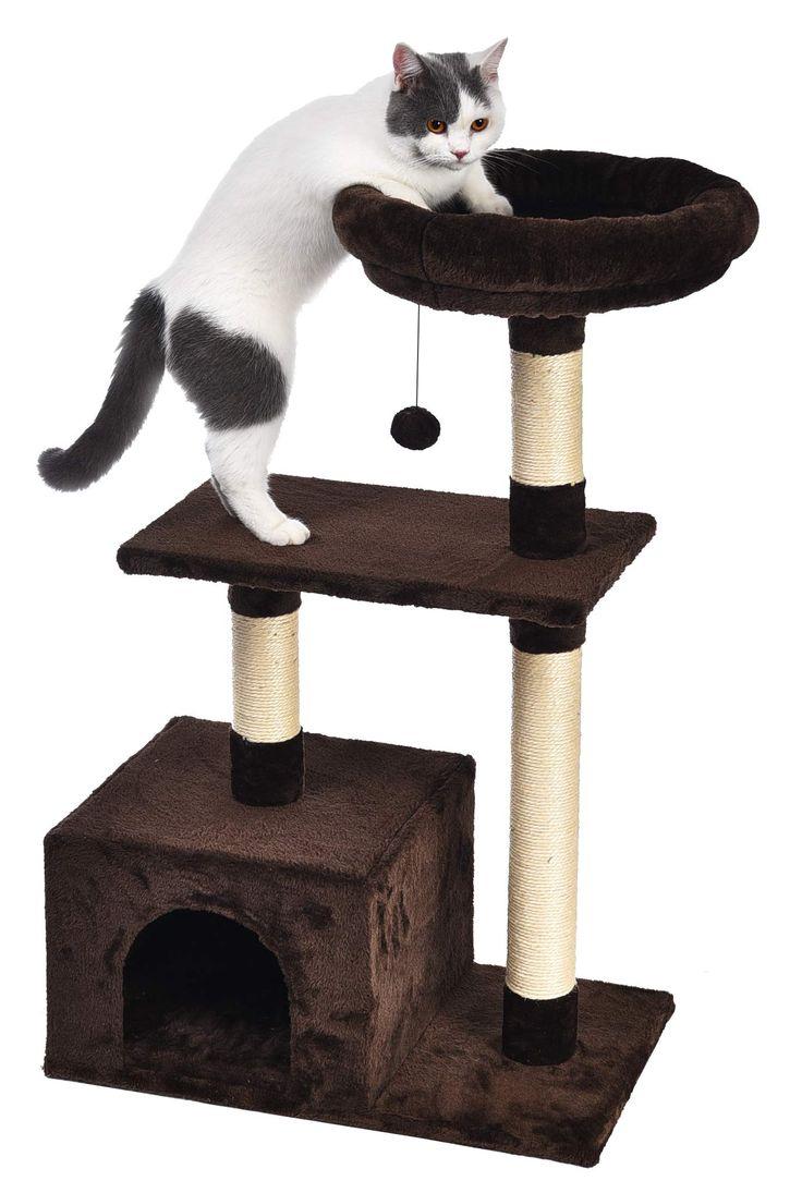 Scratching Post, Cat Tree, Cat Furniture, Sisal, Dark Brown, Pet Supplies, Kitten, Puppies, Pets