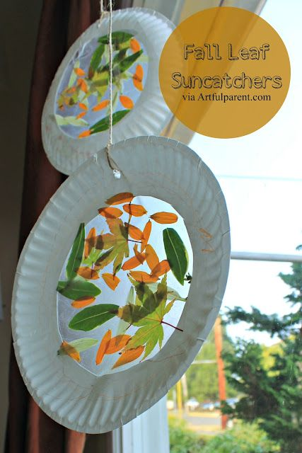 Fall leaf suncatchers project from The Artful Year: Autumn e-book.  Maybe this could be done in the spring too?