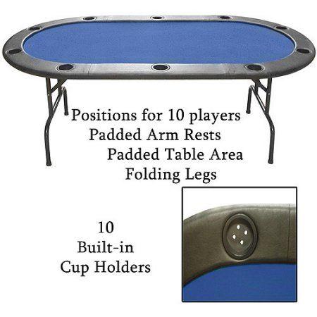 Trademark poker full size texas holdem poker table