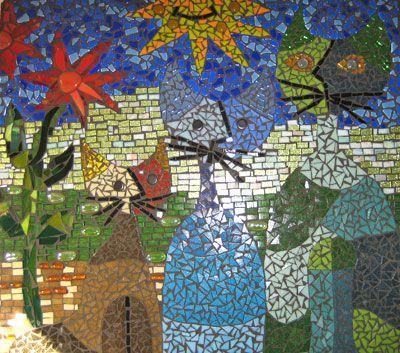 Mozaiek katten