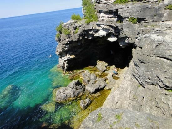 The Entrance of the Grotto Tobermory Ontario YES PLEASE!!! <3
