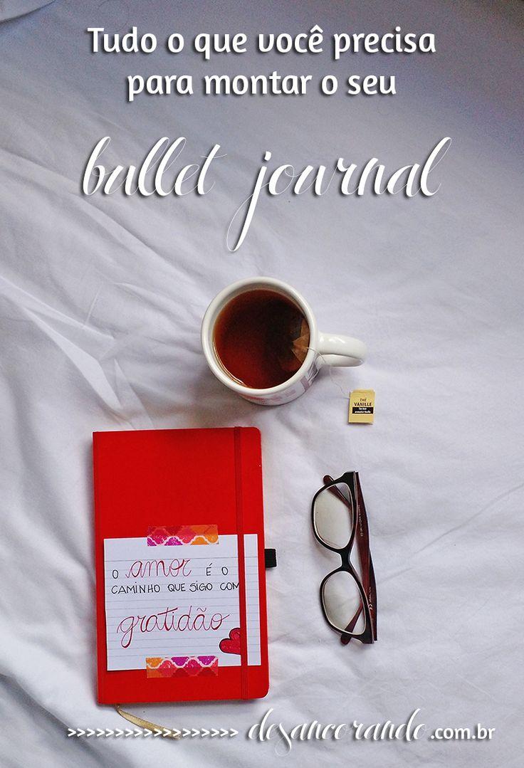 Se você ainda não sabe o que você precisa pra montar o seu bullet journal, então é só clicar no link, porque eu falei tudo sobre isso no blog! http://desancorando.com.br/2016/03/04/tudo-o-que-voce-precisa-para-fazer-um-bullet-journal/