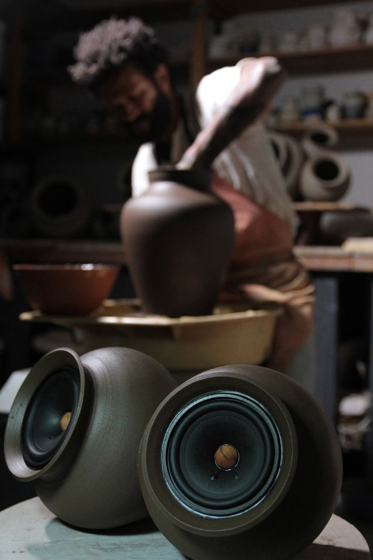 [Image]   Handmade Wireless Clay Speakers Amplify The Sound Of The... - TIMEWHEEL