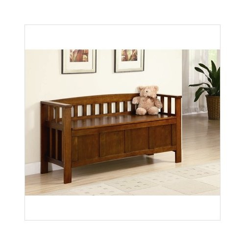 Accent Entryway Bench Brown Home Storage And Entryway