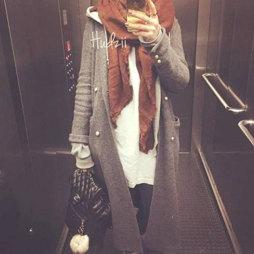 knit long cardigan hijab style, Hijab chic from the street http://www.justtrendygirls.com/hijab-chic-from-the-street/