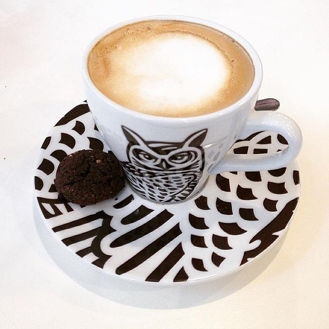 O czym myśli sowa? #kawa #latte #kawazmlekiem #czasnakawę #coffeetime #coffelove #café #kawiarnia #sowa #owl #owlmug #owlstuff #owlart #coffee #kochamkawę