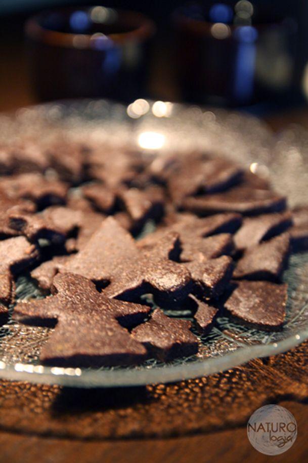raw chocolate christmas cookies