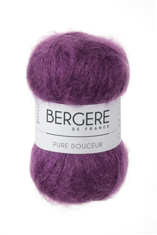 PURE DOUCEUR    Needles - Aiguilles 4.5  Crochet hook - Crochet 4.5  58% Superkid Mohair  37% Polyamide  5% Laine - Wool