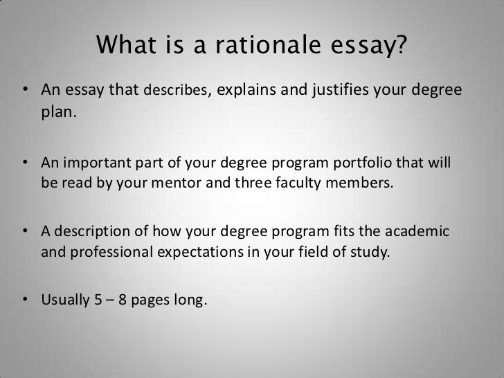 How To Write The Rationale Essay Writing Dissertation Example