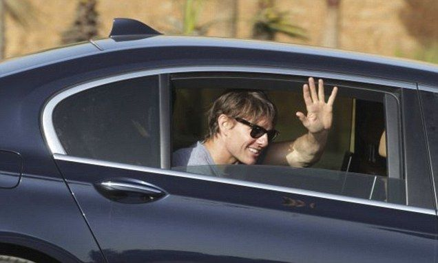 Tom Cruise greets fans in Morocco as he films Mission: Impossible 5
