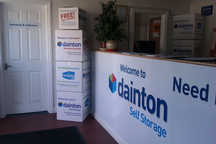 Good strong boxes for packing, removals and storage. Nicely branded and on display at out self storage Head Office near Newton Abbot Devon.  If you want cardboard boxes for sale then pop into any of our self storage branches.  http://www.dainton.com/self-storage-packaging-boxes.html
