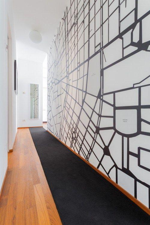 B&B MILANO - MAP - WALLPAPER   cristina meschi architetto