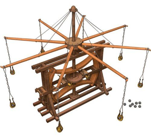 Build your own tabletop versions of Da Vinci's inventions.