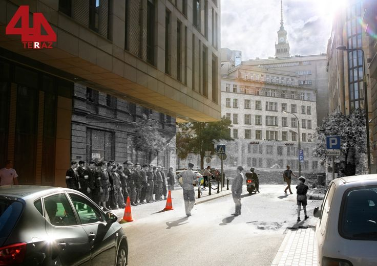 Corner of Boduena 5 and Jasna - Then And Now Photos Of Warsaw That Bring History To Life  Best of Web Shrine
