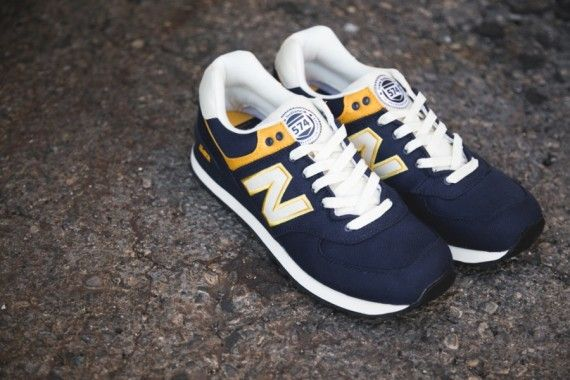 new balance m574 yellow bullet