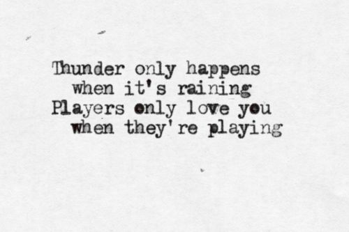 and you are the ultimate Player.....